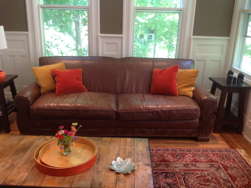 Brown Leather Sofa From North Carolina For
