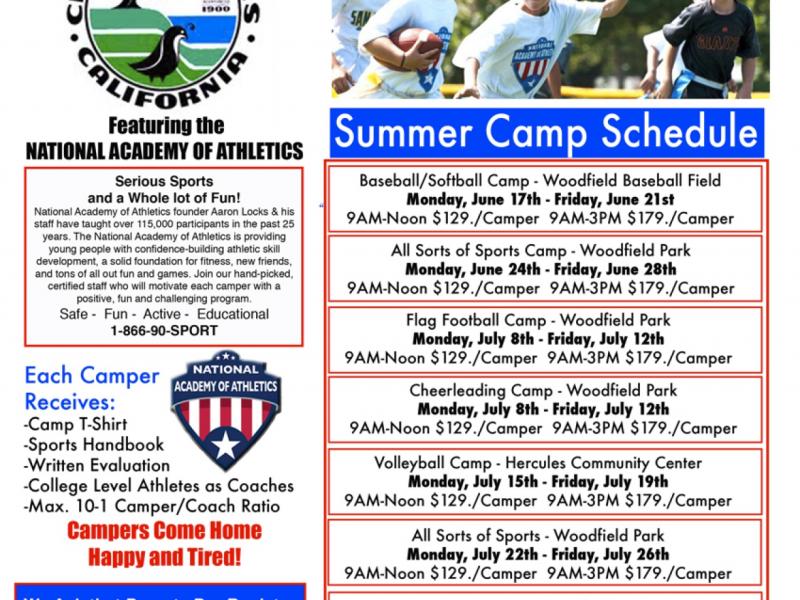 Summer sports camps in Hercules   Pinole, CA Patch