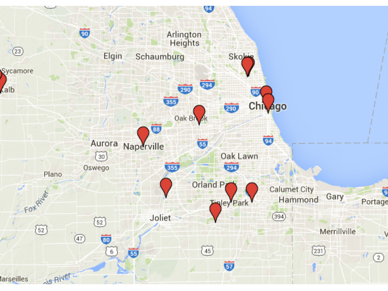 Map: Who's being hurt by the Illinois government shutdown