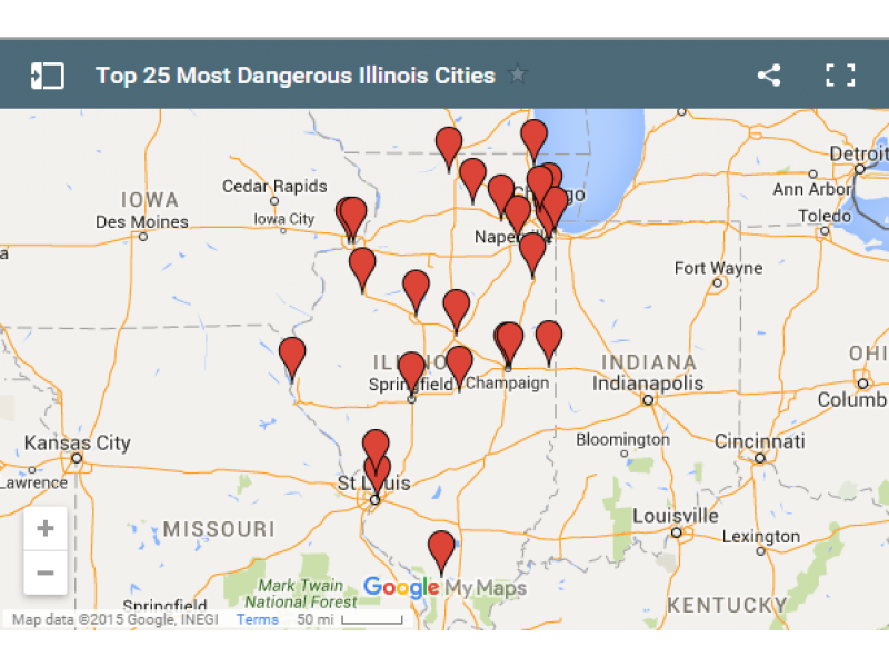 The Top 25 Most Violent Cities in Illinois Tinley Park IL Patch