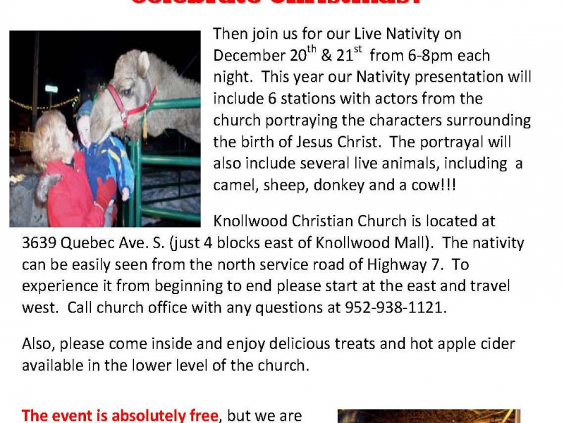 660acc622cd53f Live Nativity. Join us ...