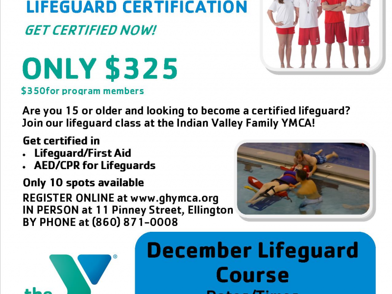 lifeguard certification offered at the y! | ellington, ct patch