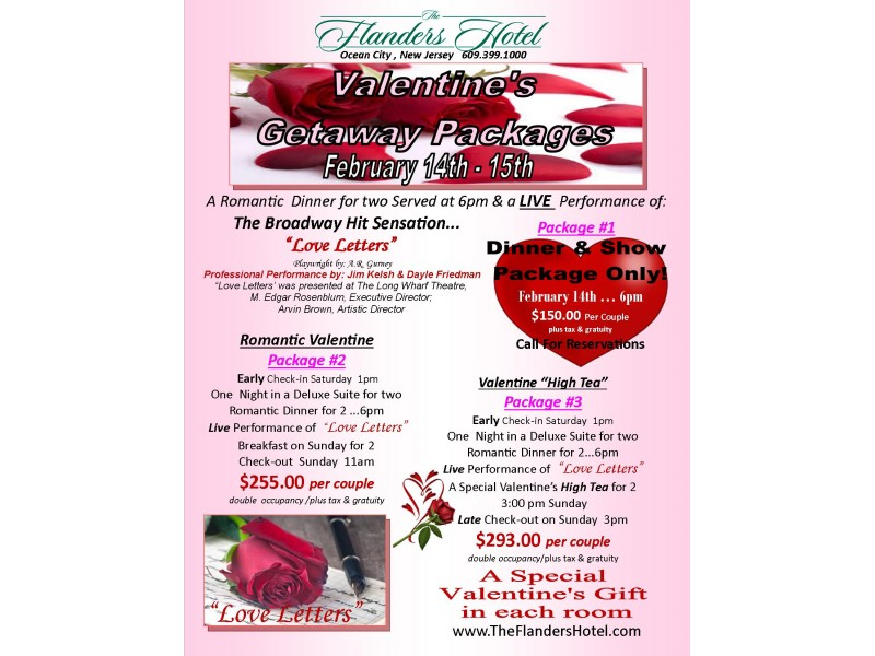 valentines packages and events at the flanders hotel in ocean city