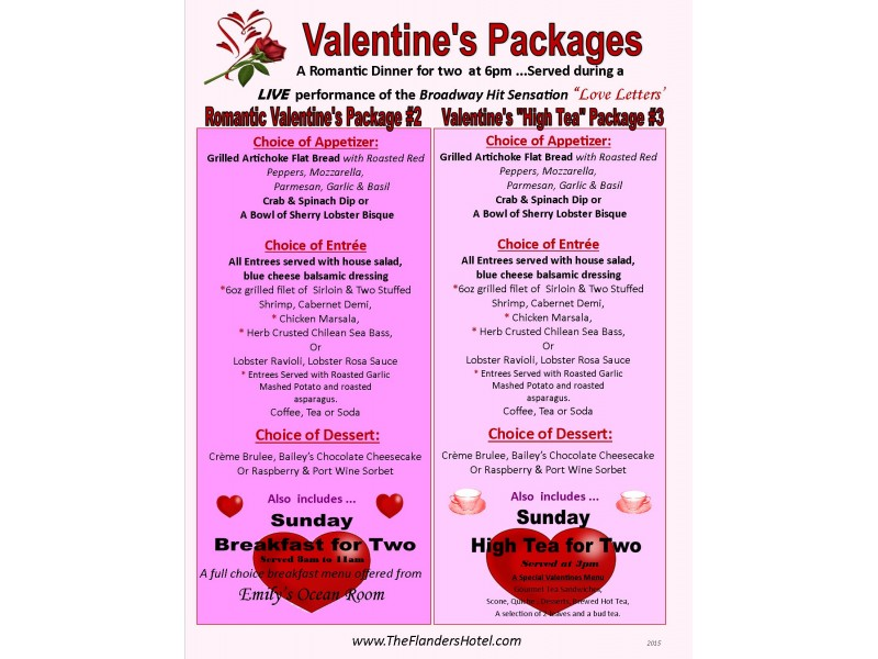 valentines packages and events at the flanders hotel in ocean city ocean city nj patch