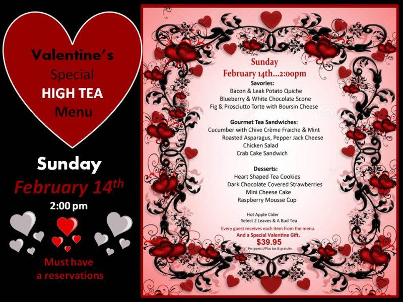 valentine's day high tea at the flanders hotel in ocean city, Ideas
