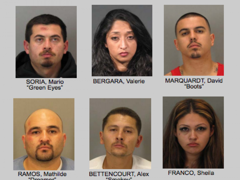 48 gangsters arrested names released gilroy ca patch