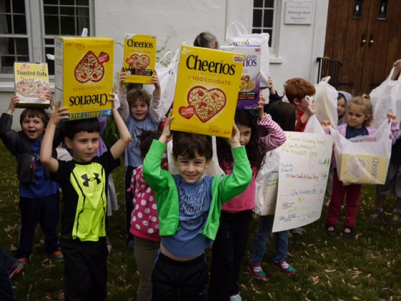 Bet Torah Nursery School Pares In A Healthy Cereal Food Drive Chaqua Ny Patch