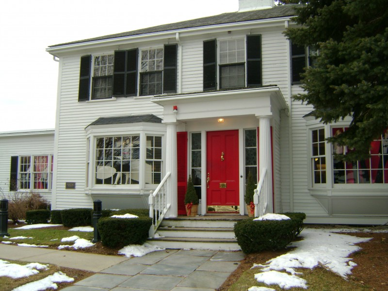 Why The Little With Bright Red Door Came To Hingham Ma Patch