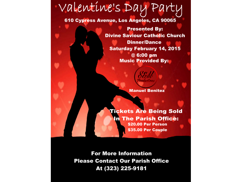 Valentine S Day Dinner Dance Highland Park Ca Patch