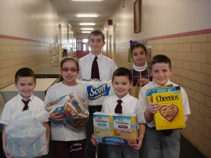 St Theresa School Helps Support Food Pantry All School