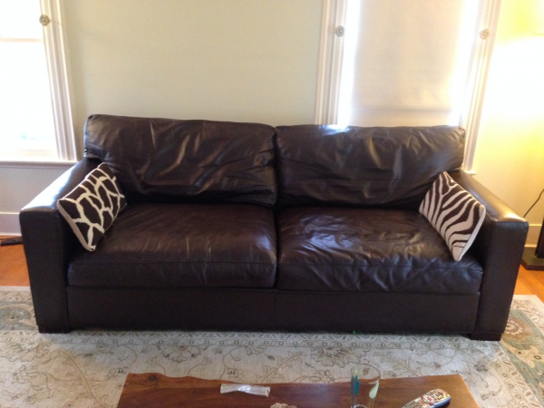 Crate And Barrel Leather Sofa | Cymun Designs