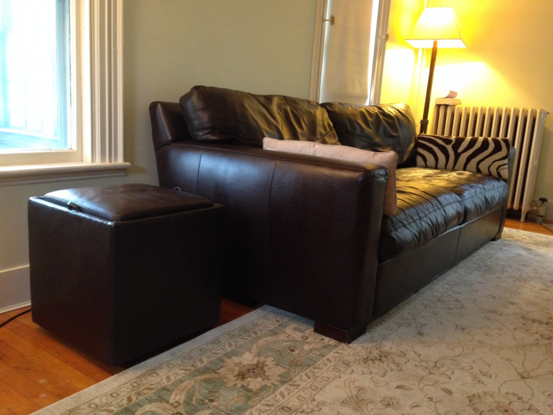 Crate U0026 Barrelu0027s Best Selling Axis II Leather 2 Seat Sofa ($1600.00) |  Sharon, MA Patch