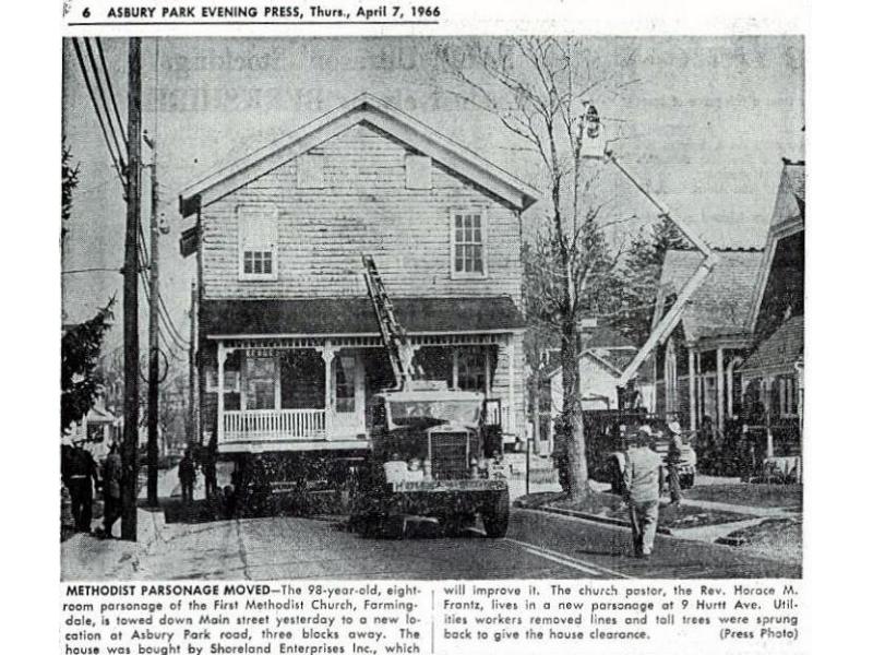 Farmingdale Methodist Episcopal Church History Howell