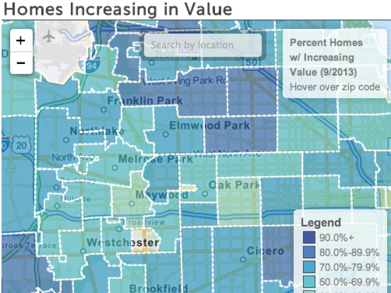Oak Park Zip Code Map.Block By Block Oak Park River Forest Where Are Increased Homes