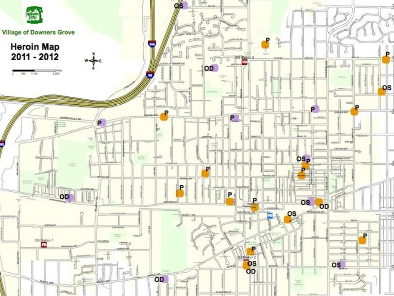 Map heroin arrests overdoses in downers grove downers - Garden grove school district calendar ...