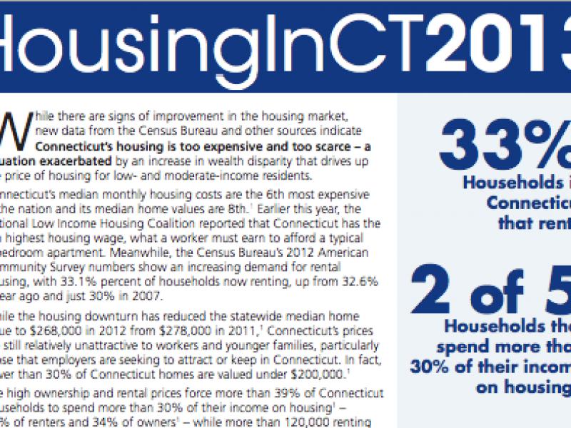 Report Paints Grim Picture of Connecticut Housing Situation