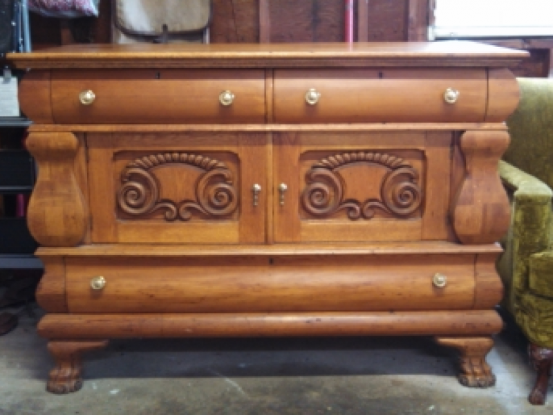 What S For Antique Sideboard Roll Top Desk