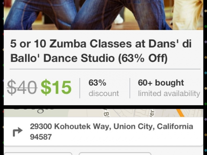 ZUMBA Free on first (trial) visit. Give the gift of fitness. Check ...