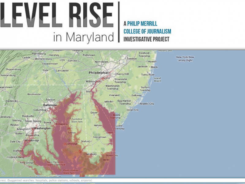 Interactive Map of Rising Sea Levels in Maryland | Owings Mills, MD ...