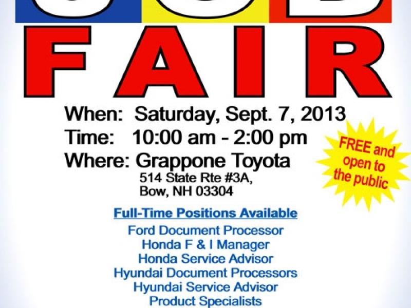 Job Fair At Grappone Automotive Group