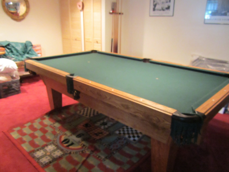 Pool Table, 8ft Olhausen Sheraton Model | Burlington, MA Patch