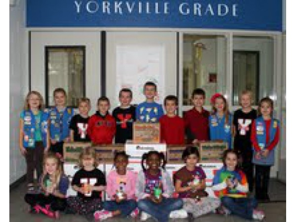 YGS PTO Troops and Students Unite for Kendall County Food Pantry
