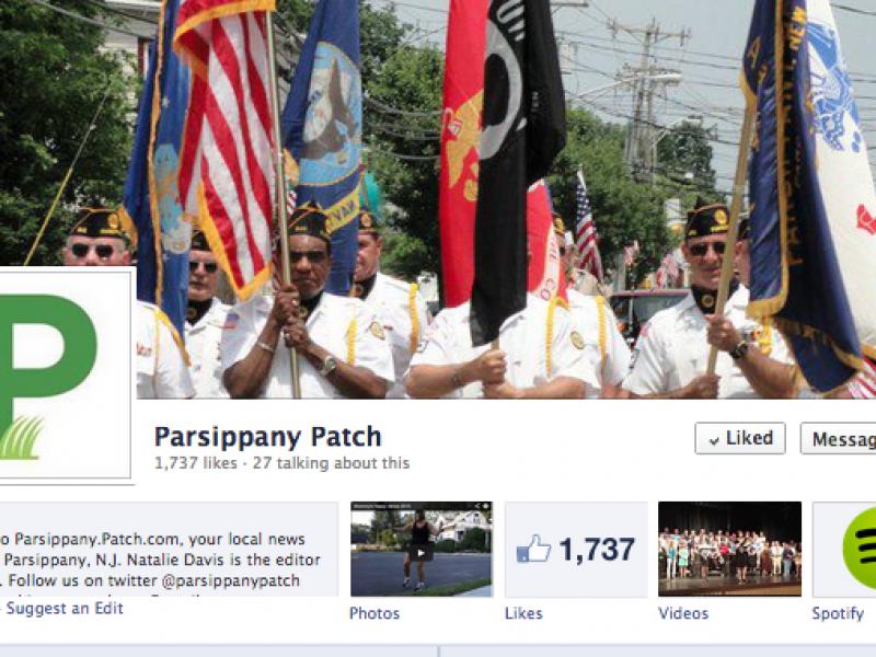 Follow Parsippany Patch on Facebook | Parsippany, NJ Patch