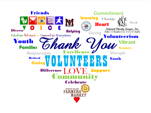 Thank You to our Volunteers - Mercer Island, WA Patch