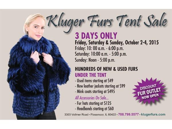 Fur Coat Tent Sale at Kluger Furs - Homewood, IL Patch