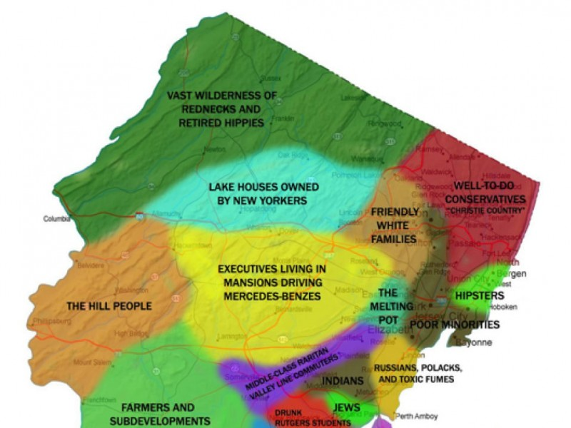 Is This the Most Outrageous New Jersey Map Ever? | Marlboro, NJ Patch