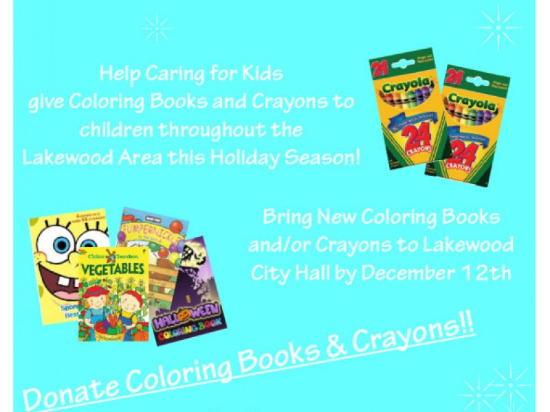 Coloring Book and Crayon Drive | Lakewood, WA Patch