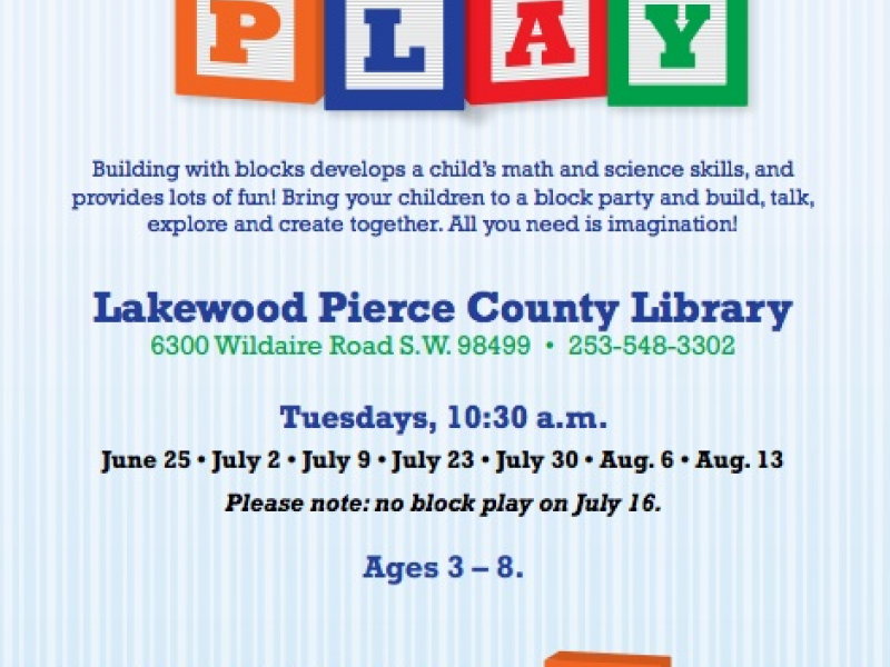 Play to Learn - Pierce County Library System