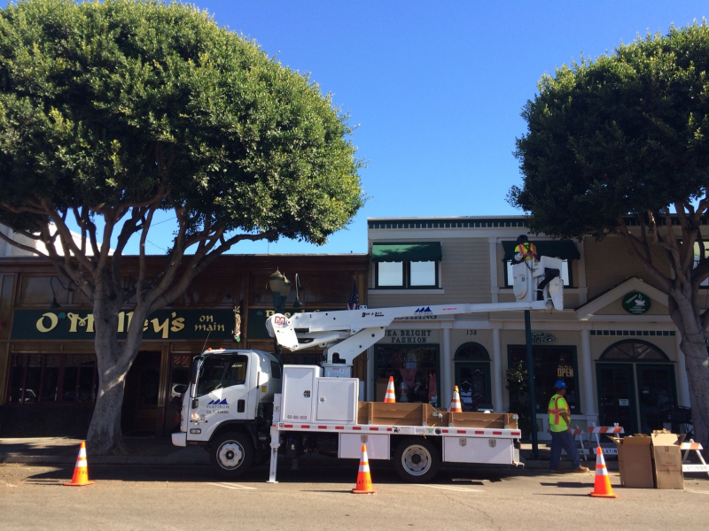 Light Pole Installation Continues on Seal Beach's Main