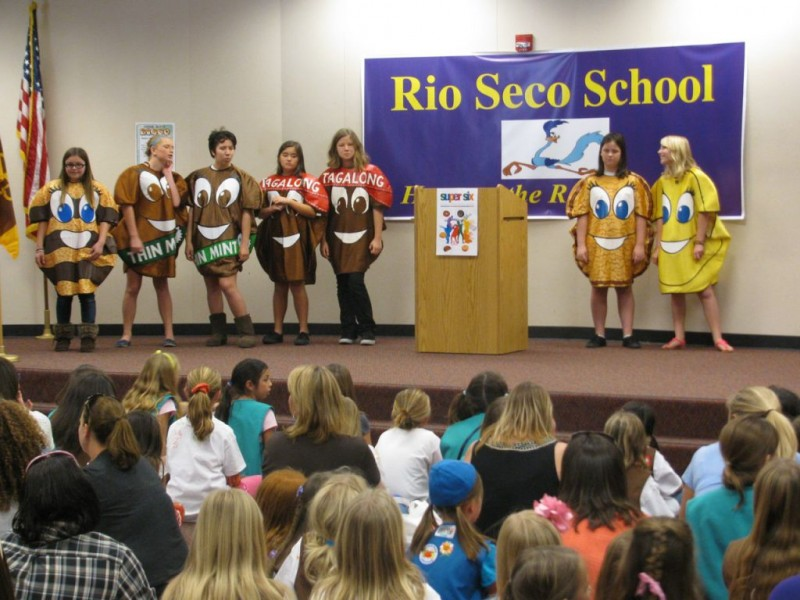 santee girl scouts hold cookie kick off at rio seco