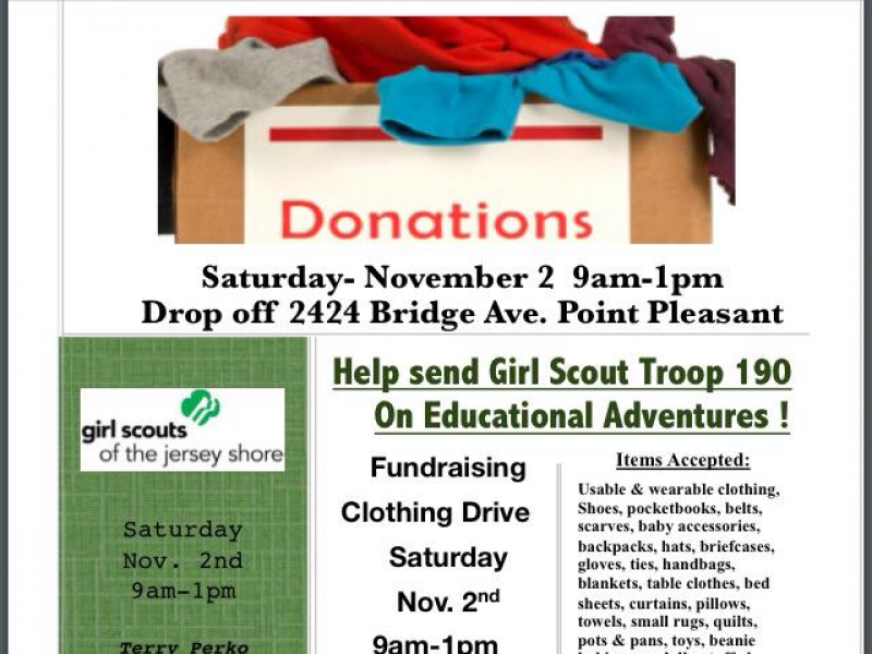 Fundraising Used Clothing and Items Drive | Point Pleasant