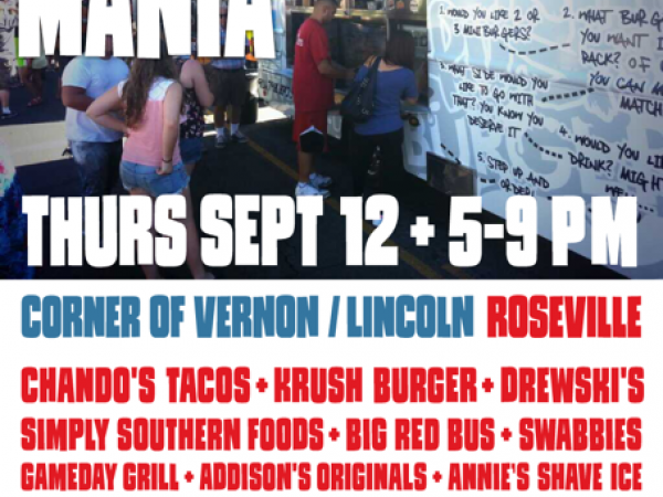 Food Truck Mania Lineup for Downtown Roseville Sept. 12 ...
