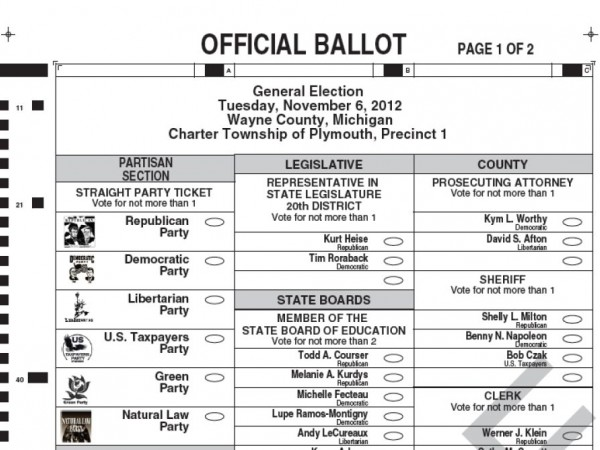 Preview a Sample Ballot for Plymouth Township - Plymouth, MI Patch