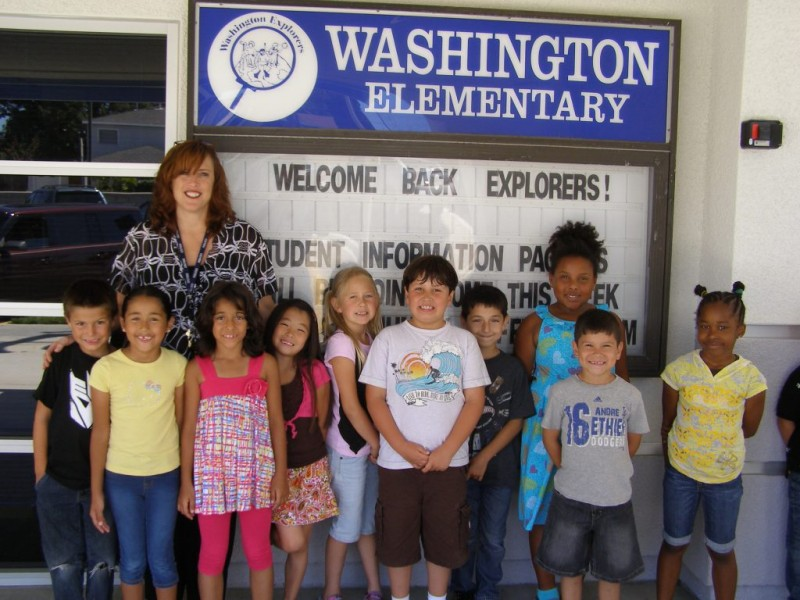 Redondo Beach - This is a home for books – free books – that Mrs. Buller's  class donated as part of a nationwide campaign to promote literacy.