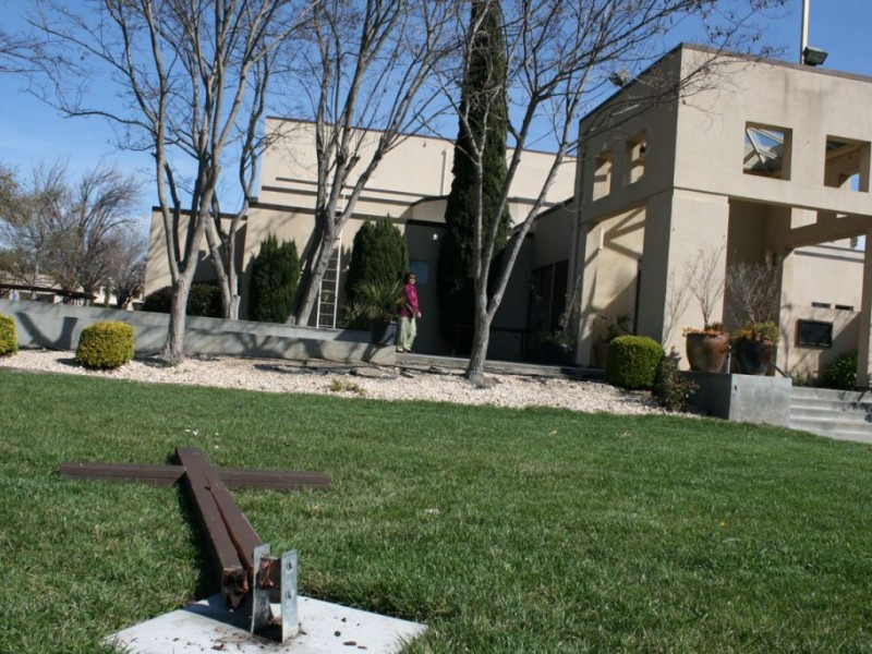 Cross Holy Family Statues Vandalized With Satanic Messages At St Anne 39 S Church Union City