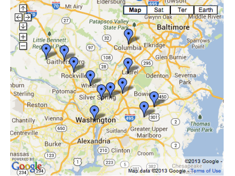 Map 4th of July Events in Maryland DC Germantown MD Patch