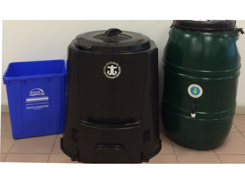 rain recycling and compost bins available to portsmouth residents