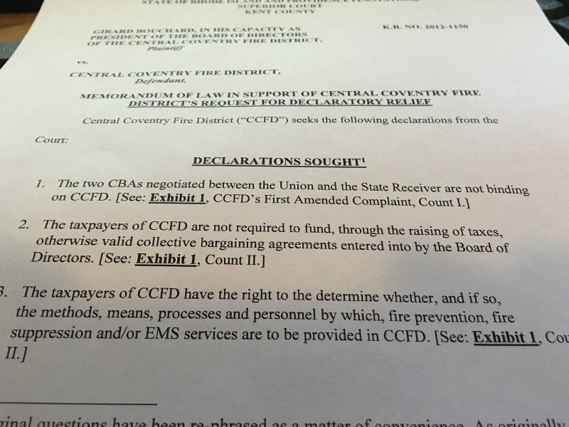 Coventry Rhode Island Police Contract
