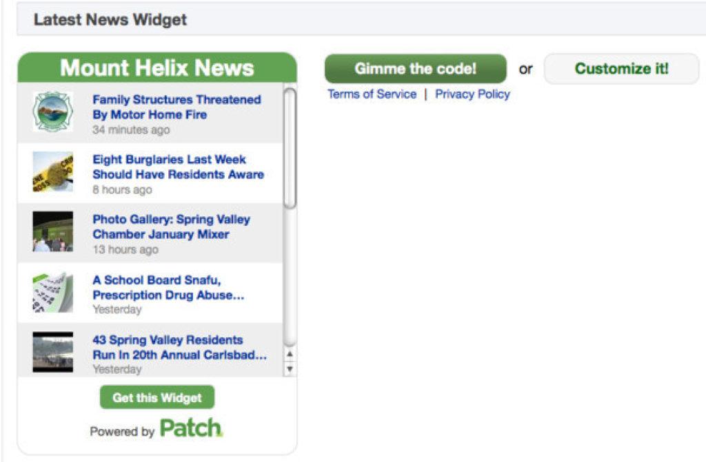Widgets! Get Your Widgets Here!   Lemon Grove, CA Patch