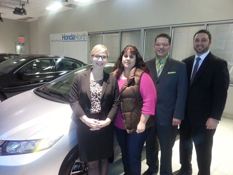 Local Woman 1 Of 5 Nationwide To Win Brand New Honda Civic