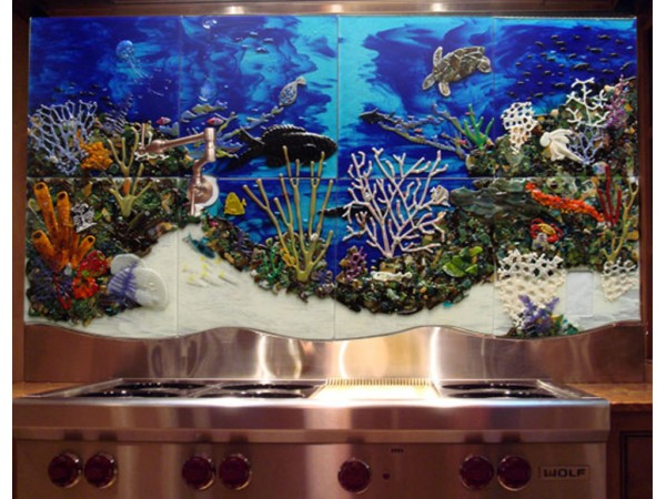 Art In Your Kitchen Fused Glass Backsplashes