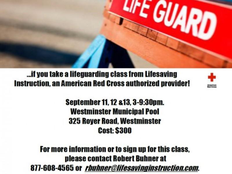 8e5387b01d15 Lifeguard Certification Class