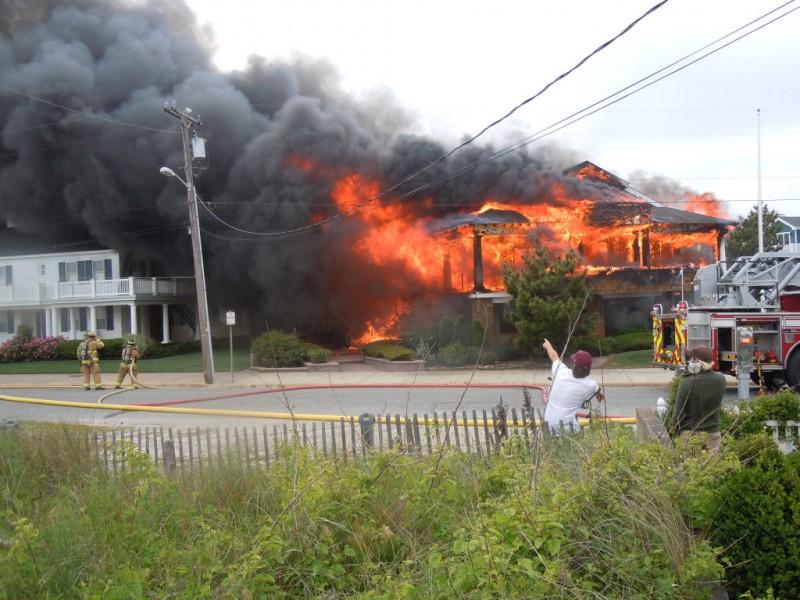 fire destroys house on beach road
