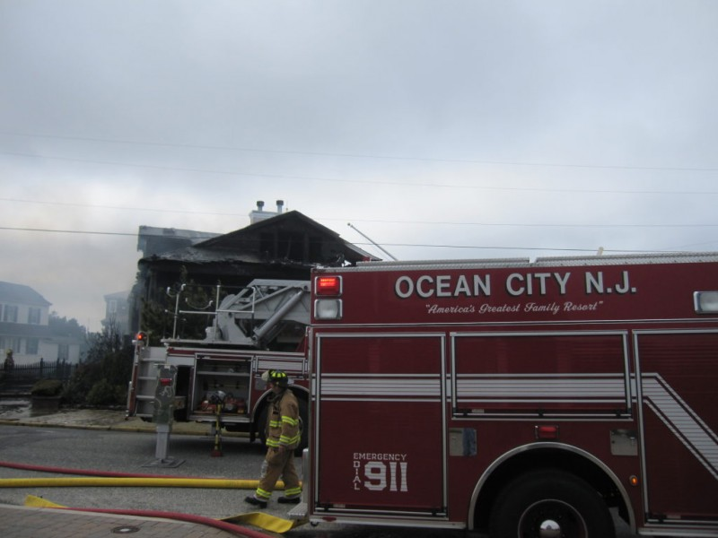 Fire Destroys House On Beach Road Ocean City Nj Patch