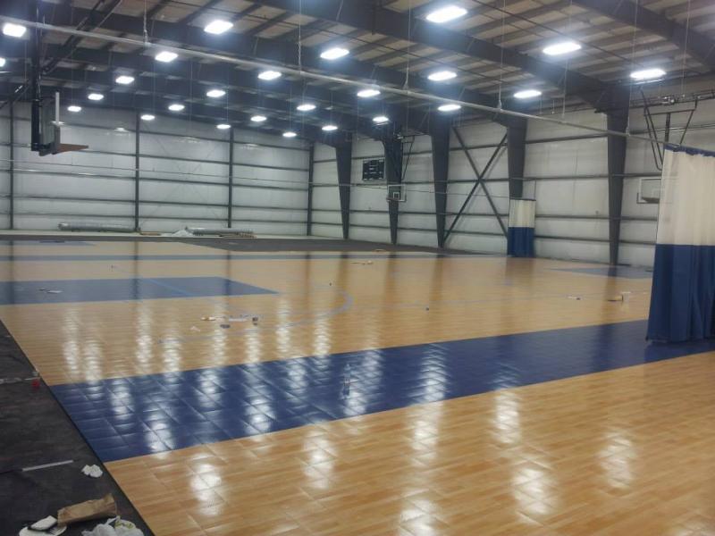 Huge Hampton Indoor Sports Complex Nearly Complete