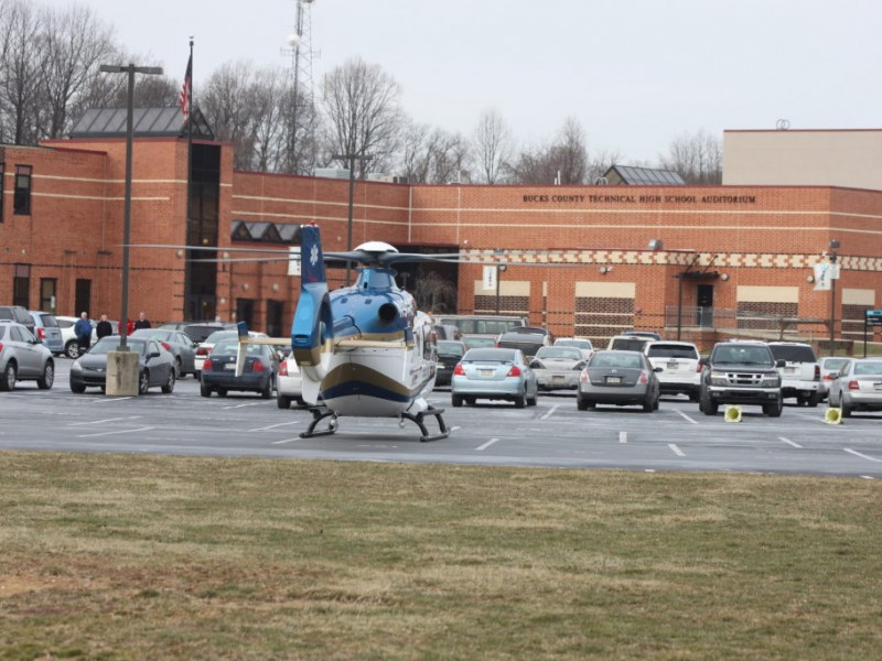 Injured Teen Airlifted From Technical High School